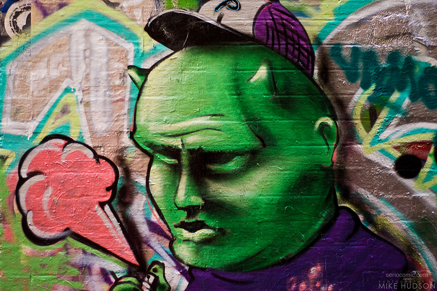 Green Graffiti Man